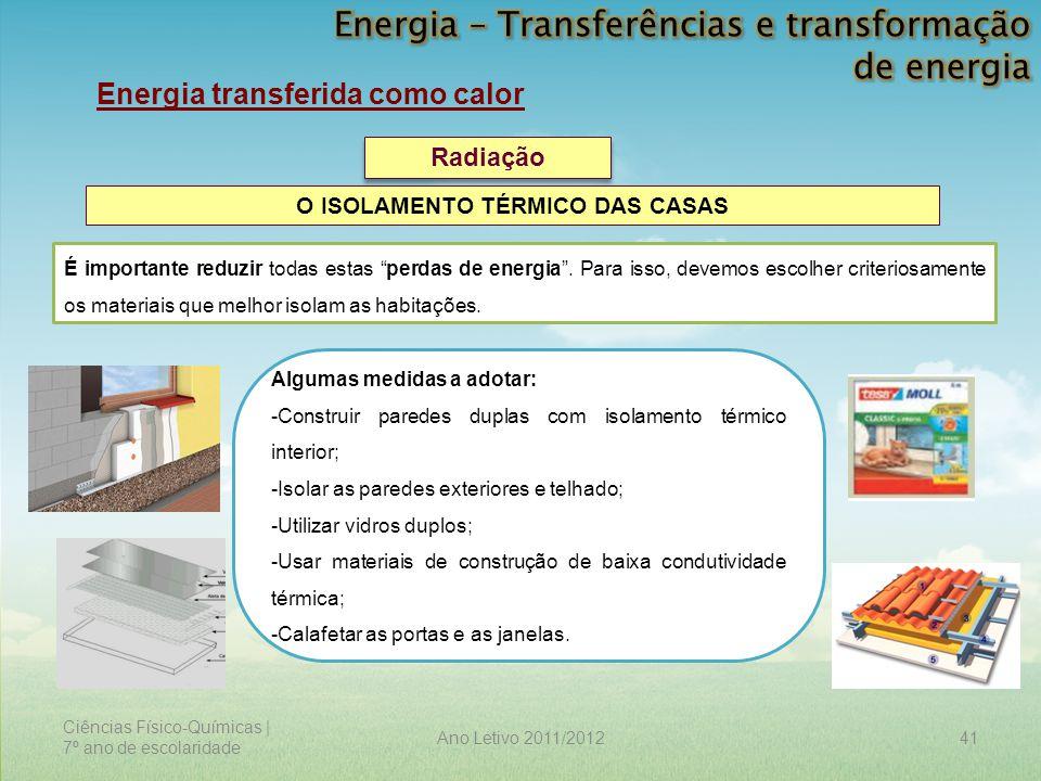 Energia – Transferências e transformação de energia