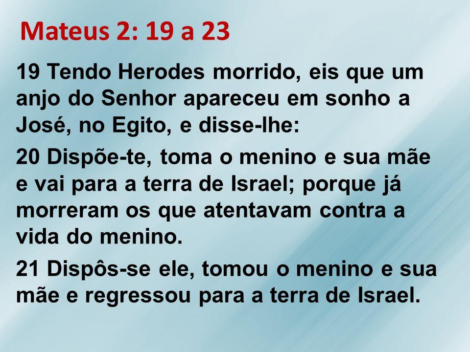 Mateus 2: 19 a 23