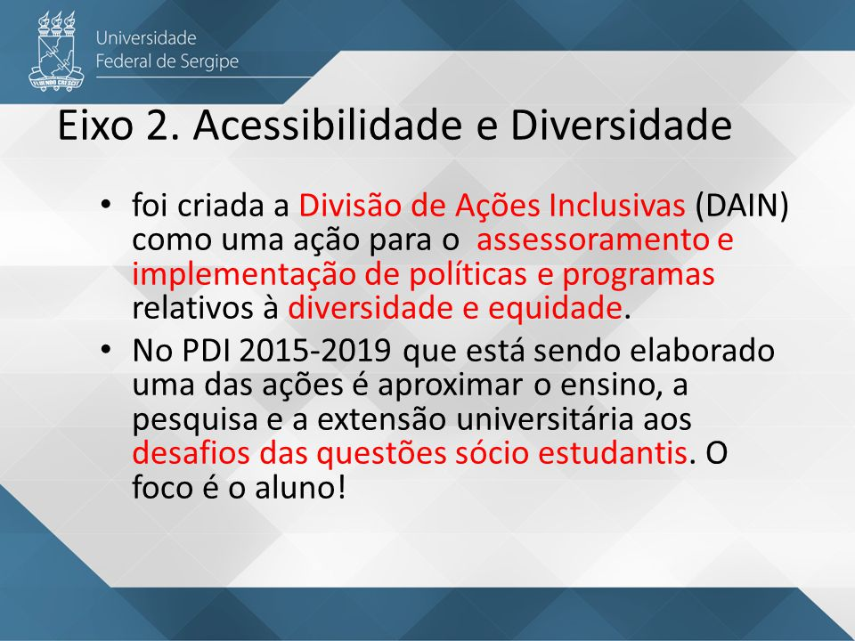 Eixo 2. Acessibilidade e Diversidade