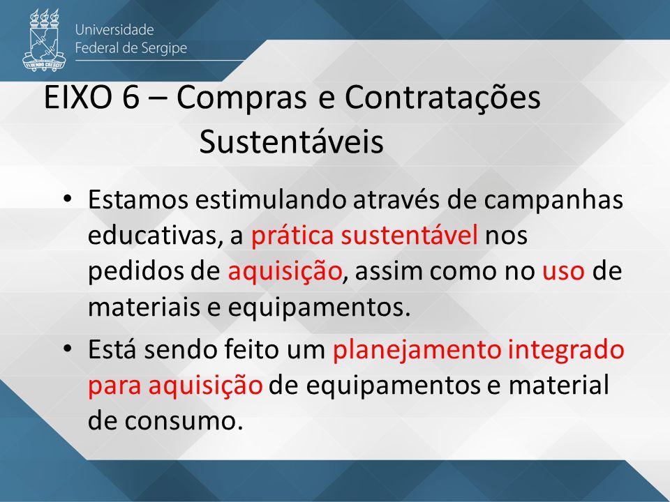 EIXO 6 – Compras e Contratações Sustentáveis