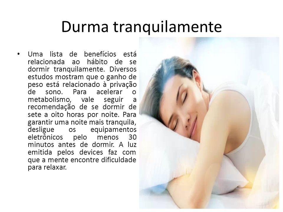 Durma tranquilamente