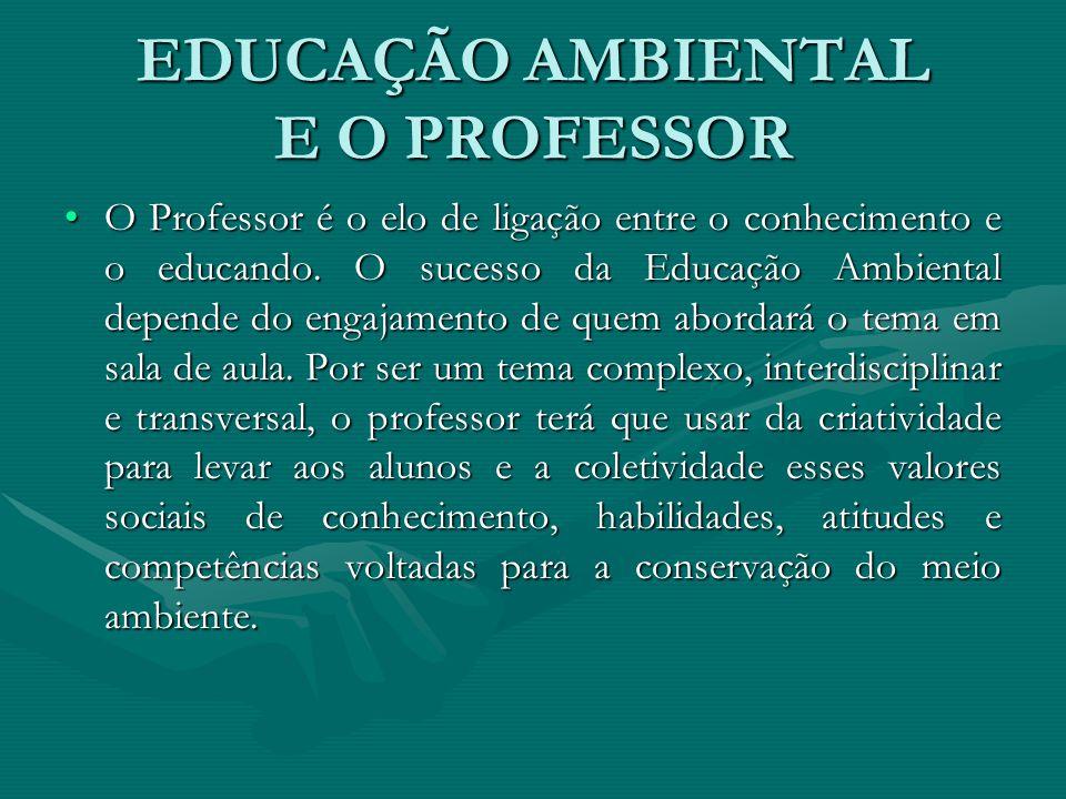 EDUCAÇÃO AMBIENTAL E O PROFESSOR