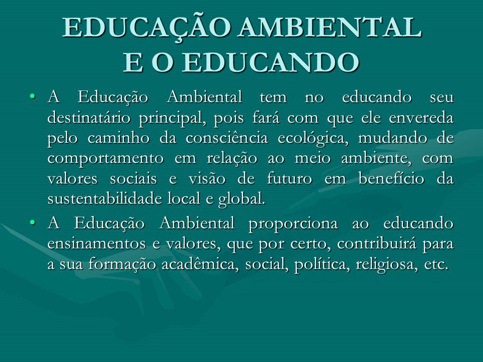 EDUCAÇÃO AMBIENTAL E O EDUCANDO