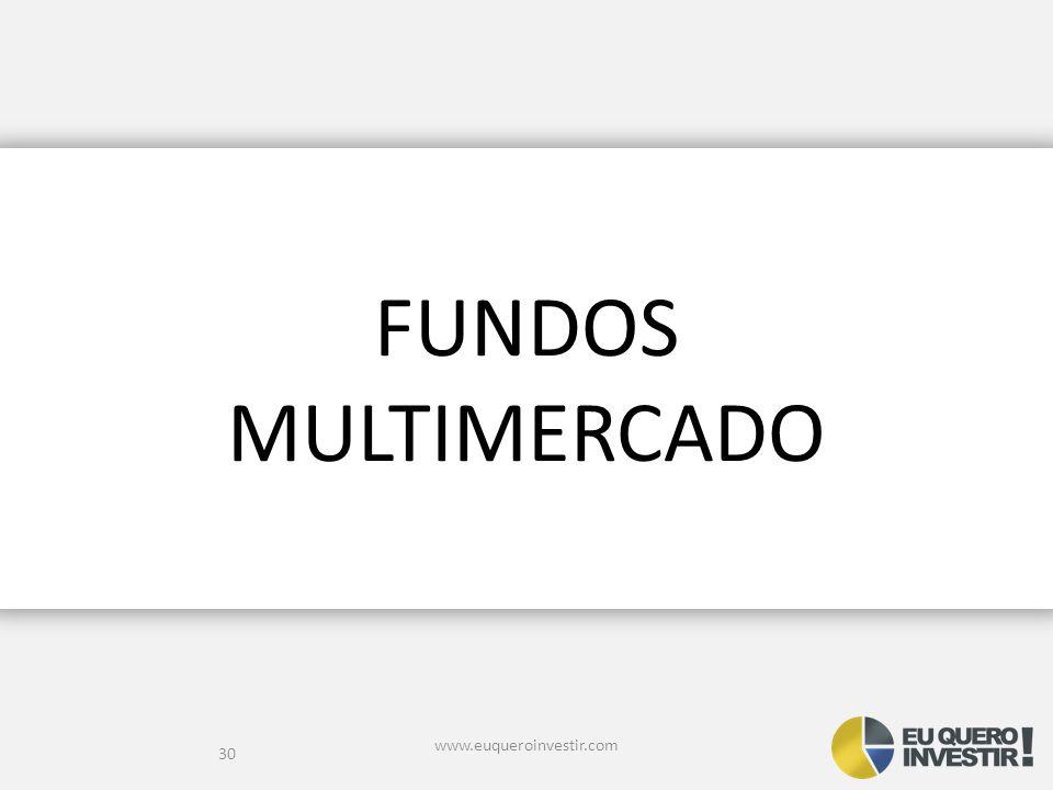 FUNDOS MULTIMERCADO www.euqueroinvestir.com