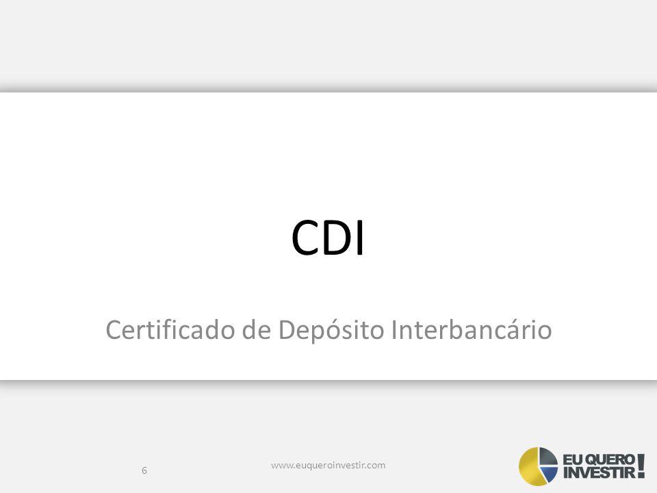 Certificado de Depósito Interbancário