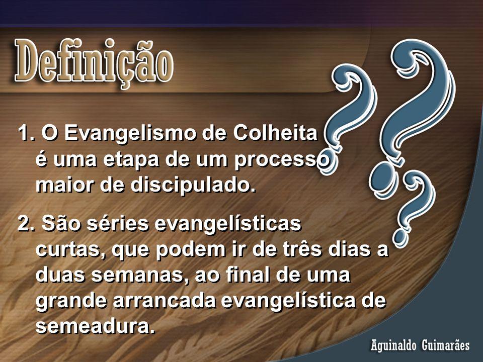 O Evangelismo de Colheita. é uma etapa de um processo