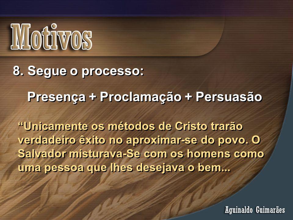 Presença + Proclamação + Persuasão