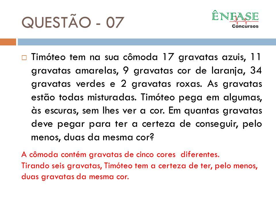 QUESTÃO - 07
