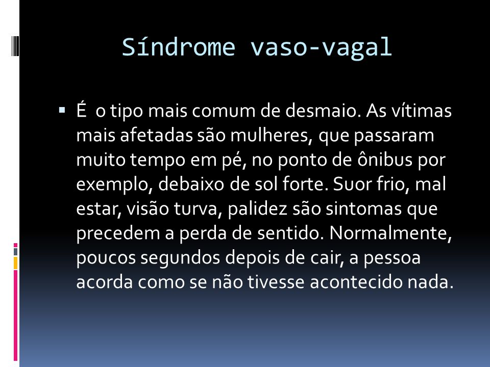 Síndrome vaso-vagal