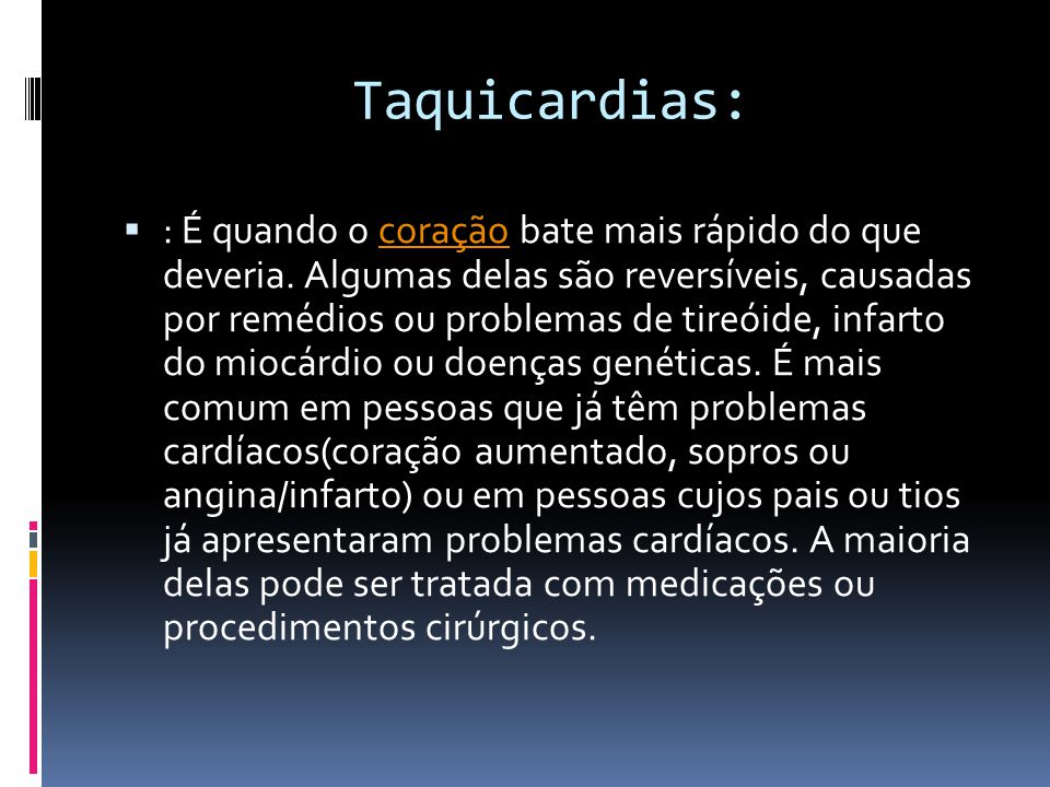 Taquicardias: