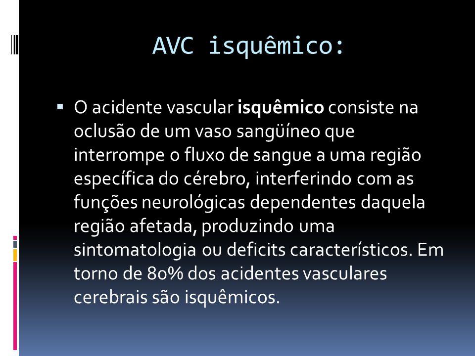 AVC isquêmico: