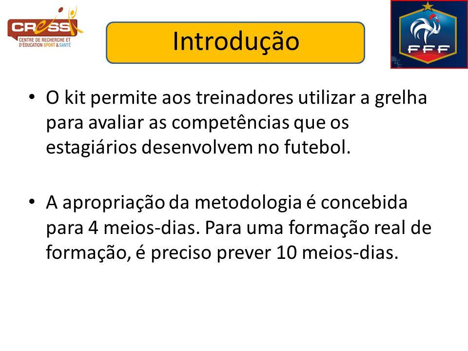 Introdução O kit permite aos treinadores utilizar a grelha para avaliar as competências que os estagiários desenvolvem no futebol.