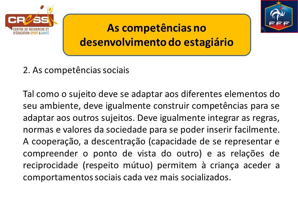 As competências no desenvolvimento do estagiário