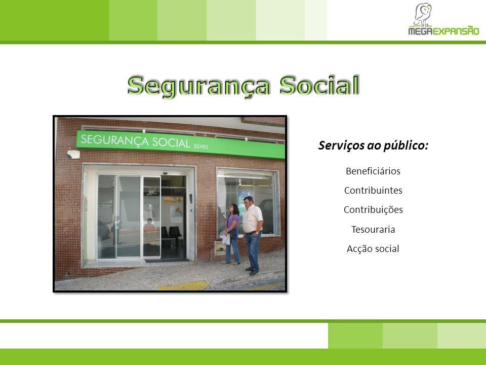Segurança Social Serviços ao público: Beneficiários Contribuintes