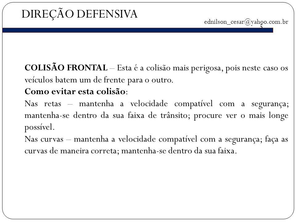 DIREÇÃO DEFENSIVA ednilson_cesar@yahoo.com.br. 5.
