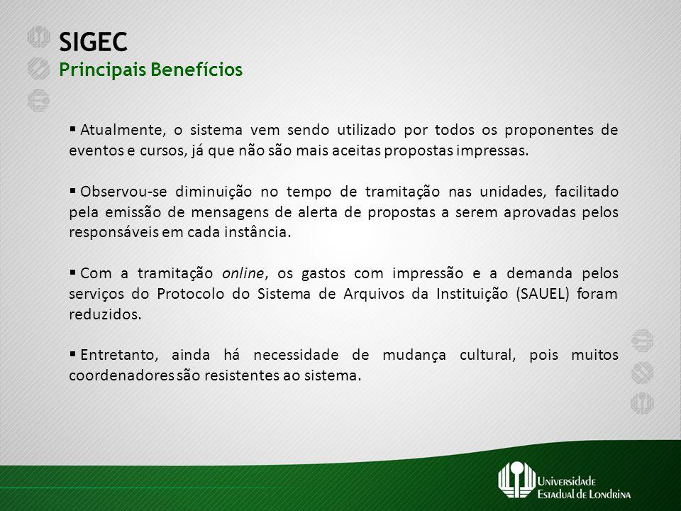 SIGEC Principais Benefícios