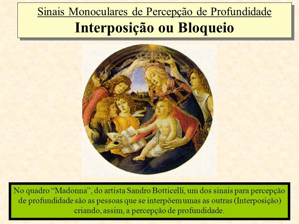 Sinais Monoculares de Percepção de Profundidade Interposição ou Bloqueio