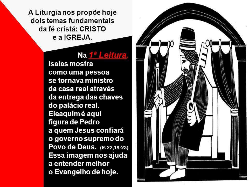 A Liturgia nos propõe hoje dois temas fundamentais