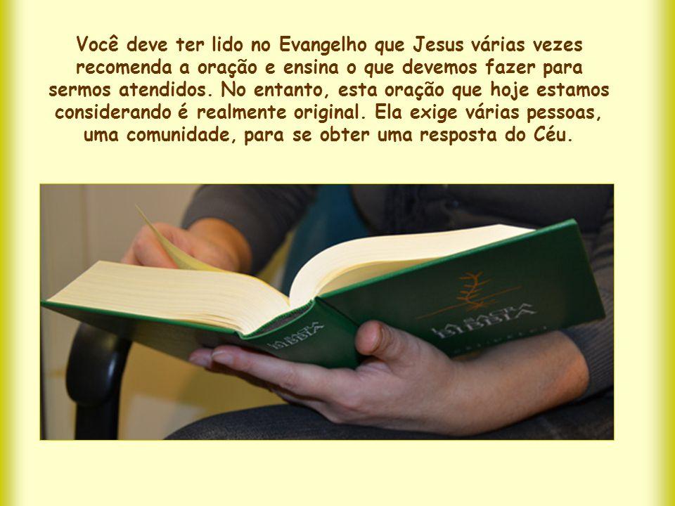 Você deve ter lido no Evangelho que Jesus várias vezes recomenda a oração e ensina o que devemos fazer para sermos atendidos.