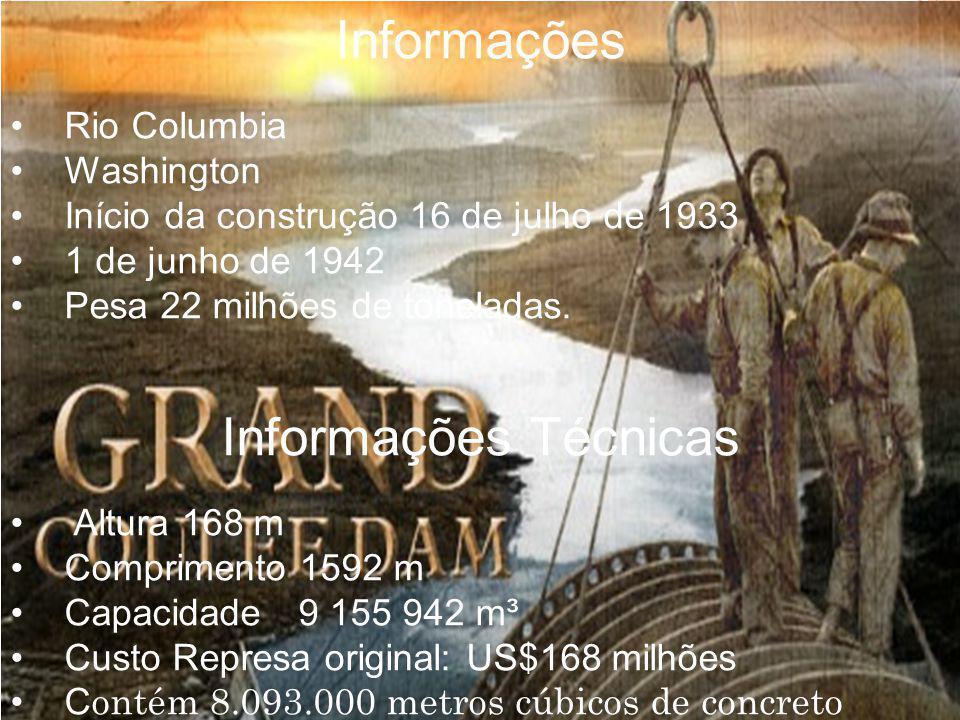 Informações Informações Técnicas • Rio Columbia • Washington