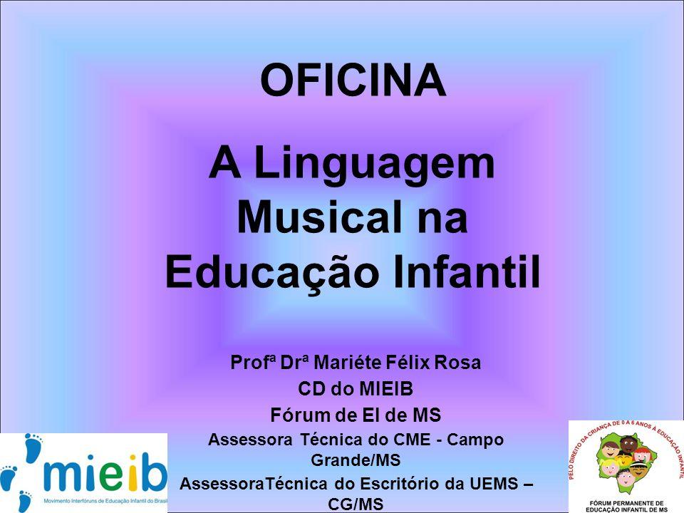 OFICINA A Linguagem Musical na Educação Infantil
