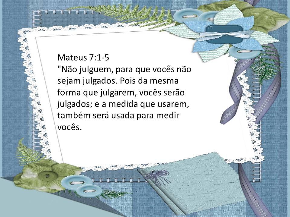 Mateus 7:1-5