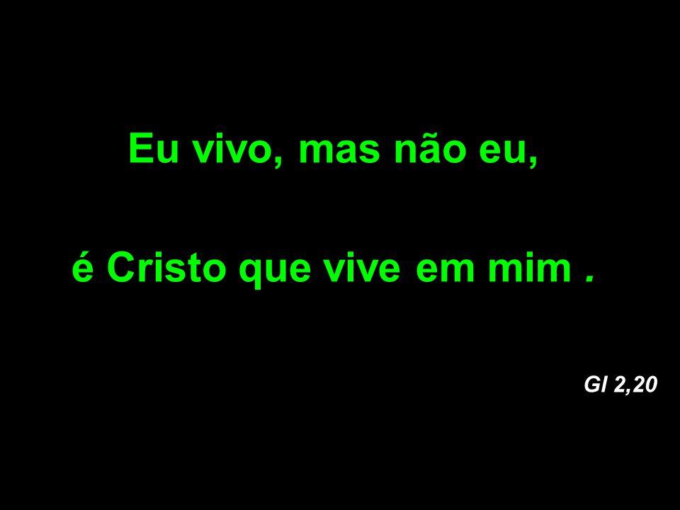 Eu vivo, mas não eu, é Cristo que vive em mim .