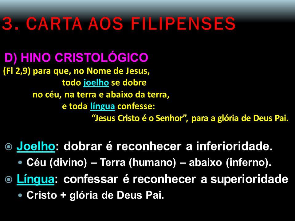 3. CARTA AOS FILIPENSES D) HINO CRISTOLÓGICO