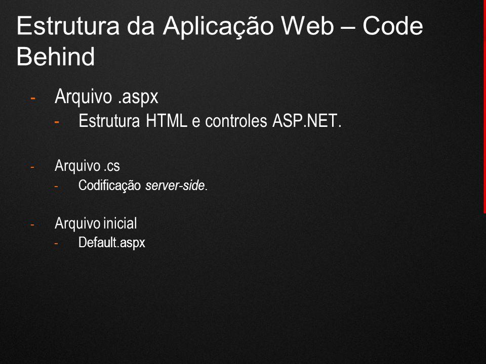 Estrutura da Aplicação Web – Code Behind