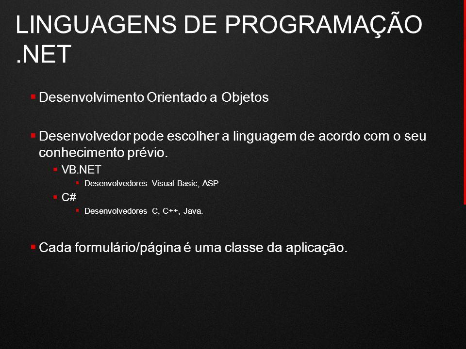 LINGUAGENS DE PROGRAMAÇÃO .NET