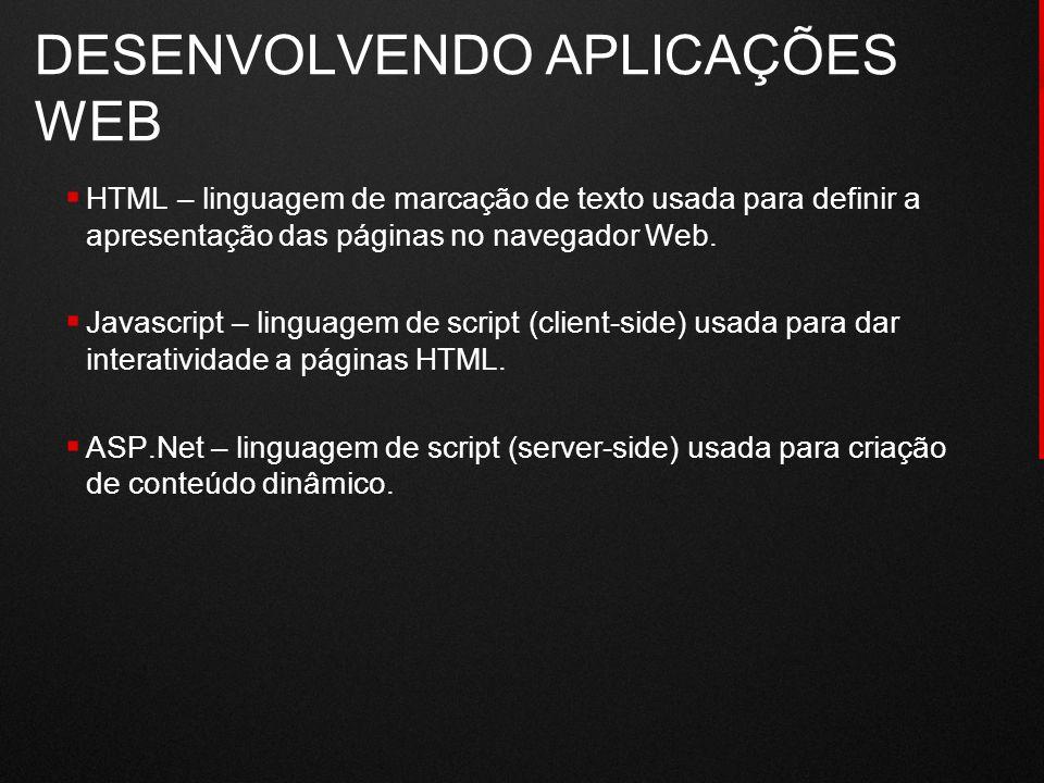 DESENVOLVENDO APLICAÇÕES WEB