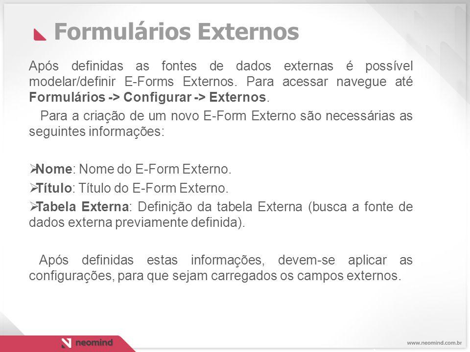 Formulários Externos