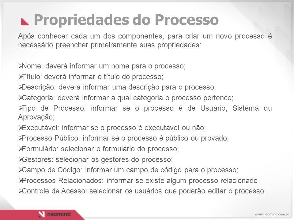 Propriedades do Processo