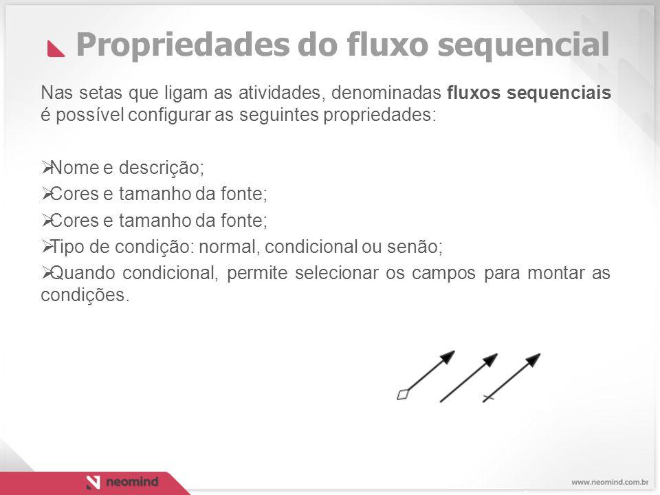 Propriedades do fluxo sequencial