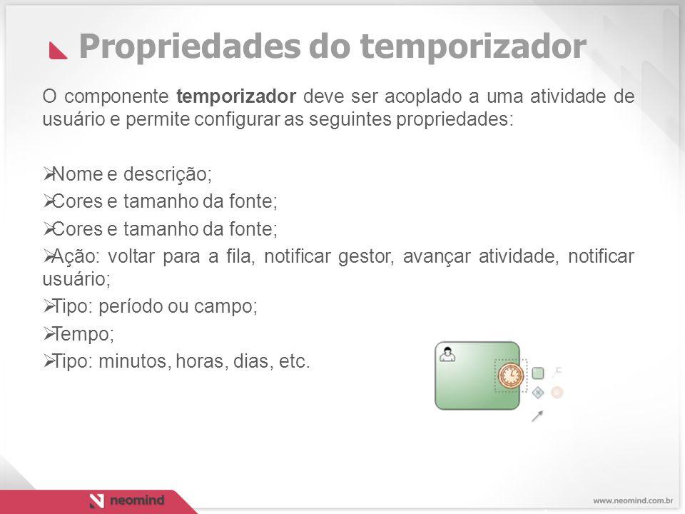 Propriedades do temporizador