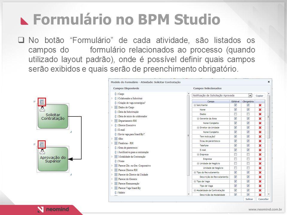 Formulário no BPM Studio