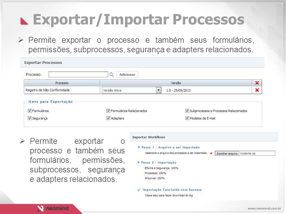 Exportar/Importar Processos