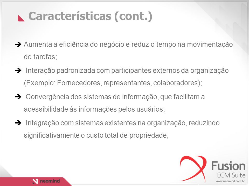 Características (cont.)