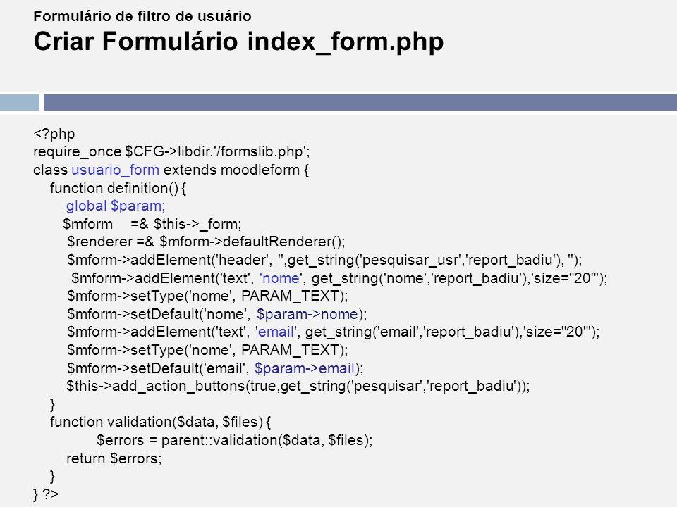 Criar Formulário index_form.php
