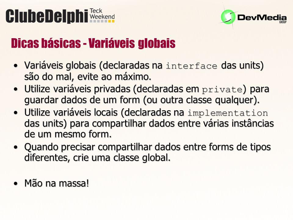 Dicas básicas - Variáveis globais