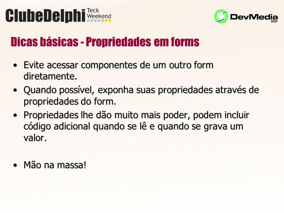 Dicas básicas - Propriedades em forms