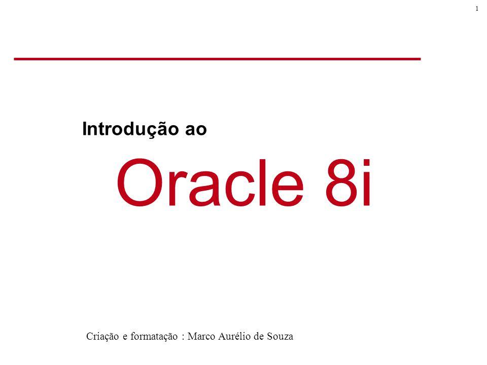Introdução ao Oracle 8i Criação e formatação : Marco Aurélio de Souza