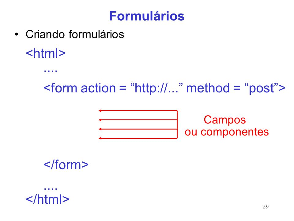 <form action = http://... method = post > </form>