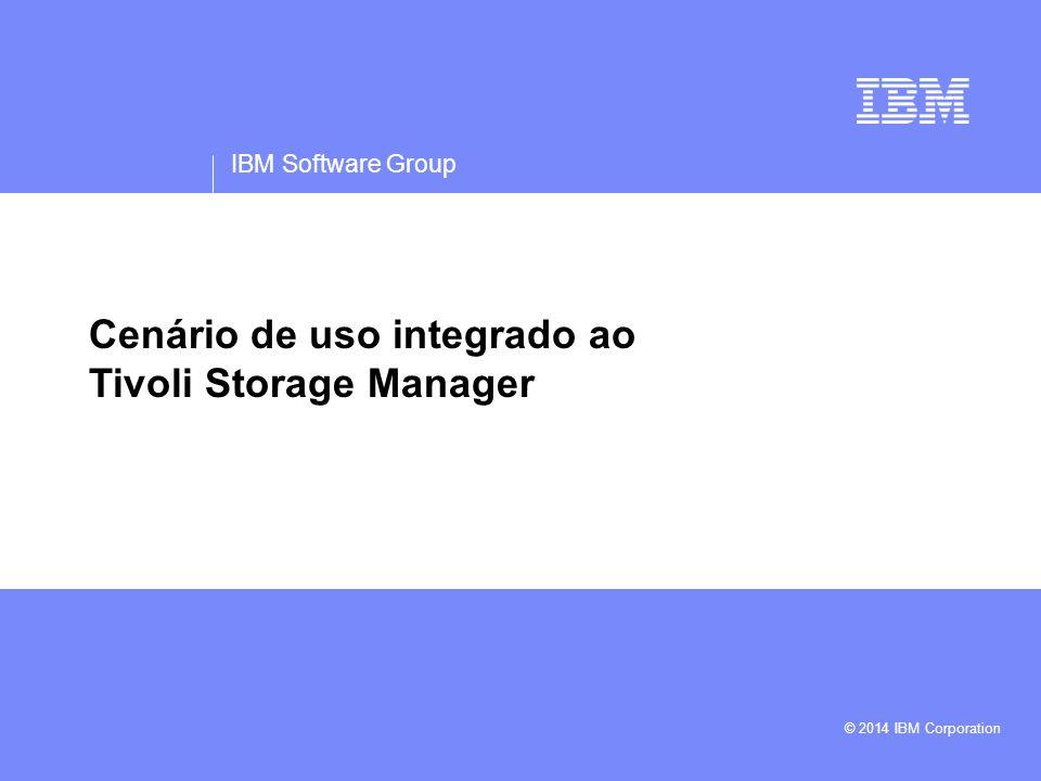 Cenário de uso integrado ao Tivoli Storage Manager