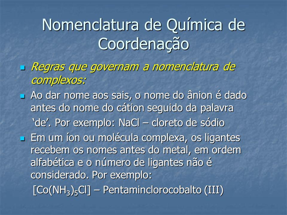 Nomenclatura de Química de Coordenação