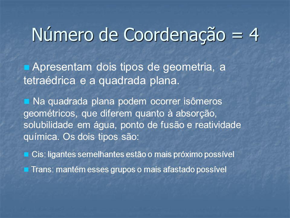 Número de Coordenação = 4