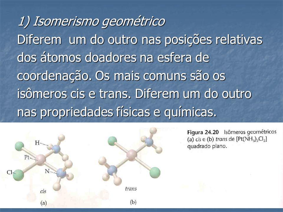 1) Isomerismo geométrico