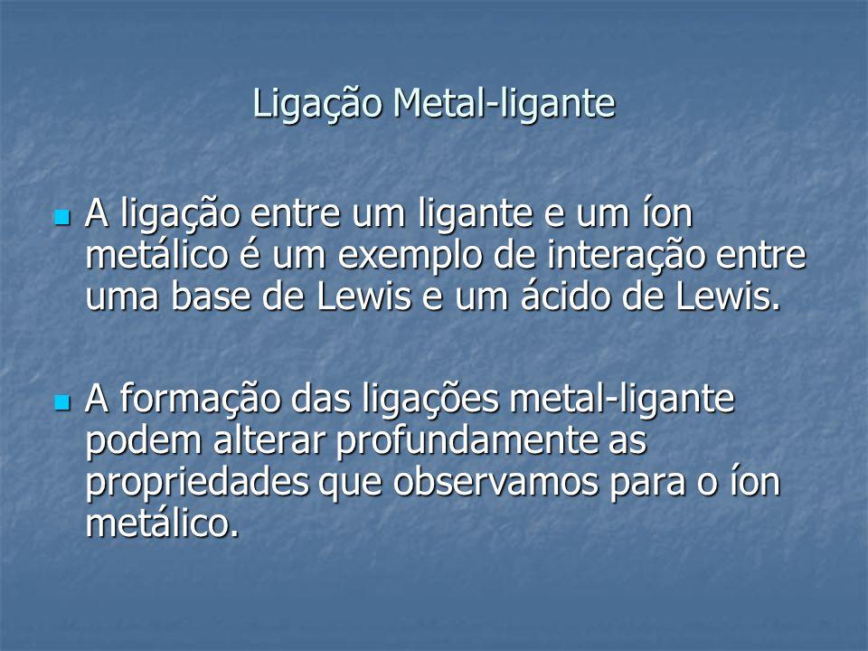 Ligação Metal-ligante