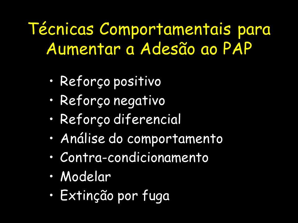 Técnicas Comportamentais para Aumentar a Adesão ao PAP