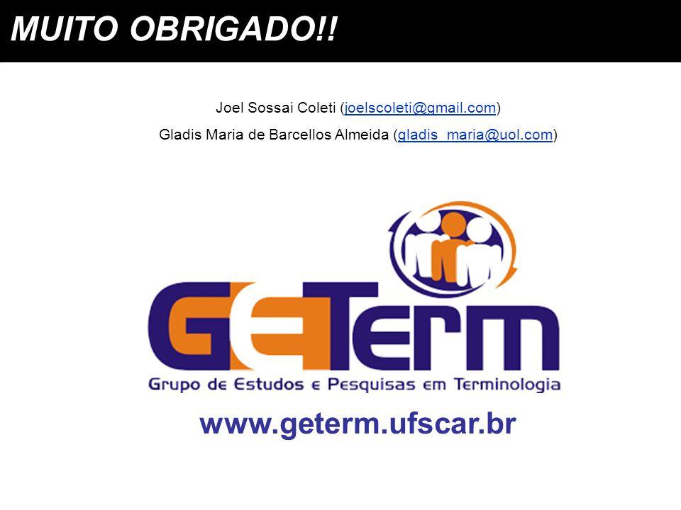 MUITO OBRIGADO!! www.geterm.ufscar.br